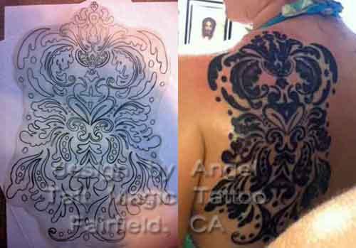 the damask tattoo. Black Bedroom Furniture Sets. Home Design Ideas